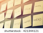many sticky notes attached to... | Shutterstock . vector #421344121