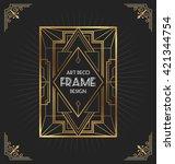 art deco frame design for your...   Shutterstock .eps vector #421344754