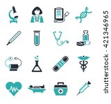 medical icons | Shutterstock .eps vector #421346965