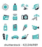 vacation icons | Shutterstock .eps vector #421346989