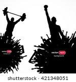banner for sporting events.... | Shutterstock .eps vector #421348051