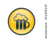 vector illustration of beer icon