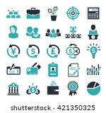 investment icons | Shutterstock .eps vector #421350325