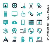 technology icons set computer ... | Shutterstock .eps vector #421350331