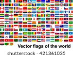 vector flags of the world | Shutterstock .eps vector #421361035