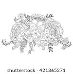 a bouquet of flowers for... | Shutterstock .eps vector #421365271