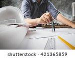 close up of engineer hand...   Shutterstock . vector #421365859