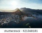 birds eye view of city of cape... | Shutterstock . vector #421368181