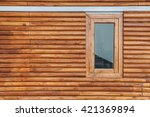 wooden window and wall in... | Shutterstock . vector #421369894