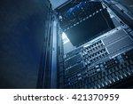 double exposure of cloud and... | Shutterstock . vector #421370959