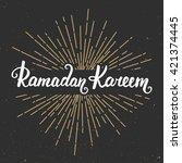 ramadan kareem greeting card... | Shutterstock .eps vector #421374445