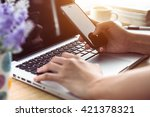 business on office table with... | Shutterstock . vector #421378321