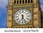 The Clock Face On The Iconic...