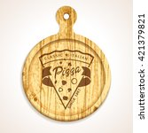 vector pizza design elements... | Shutterstock .eps vector #421379821