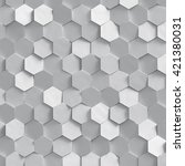 3d render  silver honeycomb... | Shutterstock . vector #421380031