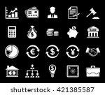 finance icons   Shutterstock .eps vector #421385587