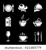 restaurant icons   Shutterstock .eps vector #421385779