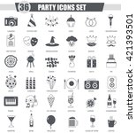 vector party event black icon... | Shutterstock .eps vector #421393501