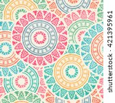tribal seamless background with ...   Shutterstock .eps vector #421395961