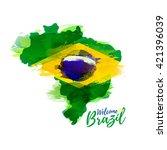 symbol  poster  banner brazil.... | Shutterstock .eps vector #421396039