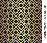 seamless art deco pattern with... | Shutterstock .eps vector #421400281