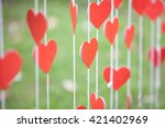 paper heart | Shutterstock . vector #421402969