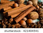 aromatic set of chocolate... | Shutterstock . vector #421404541