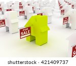 house colored  for sale  3d... | Shutterstock . vector #421409737