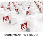 houses for sale  3d rendering | Shutterstock . vector #421409911