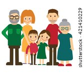 happy family portrait. father... | Shutterstock .eps vector #421410229