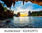 tropical holidays  beach... | Shutterstock . vector #421412971