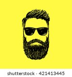 hipster fashion man hair and... | Shutterstock .eps vector #421413445