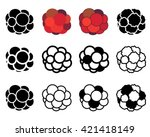 collections of cancer cell in... | Shutterstock .eps vector #421418149