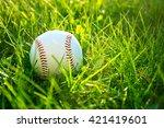 baseball game. baseball ball in ... | Shutterstock . vector #421419601