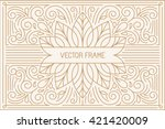 vector poster design template... | Shutterstock .eps vector #421420009