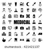 medical icons set   Shutterstock .eps vector #421421137