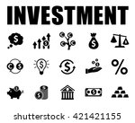 investment icons set | Shutterstock .eps vector #421421155