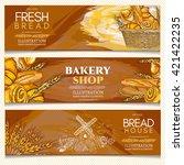 bakery banner  bakery shop ... | Shutterstock .eps vector #421422235