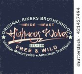 grunge motorcycle vintage... | Shutterstock .eps vector #421427494