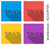 set of flat vector color... | Shutterstock .eps vector #421429705