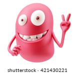 okay emoticon character face... | Shutterstock . vector #421430221