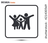 happy family icon in simple... | Shutterstock .eps vector #421430569