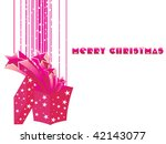 abstract merry christmas... | Shutterstock .eps vector #42143077