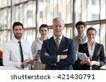portrait of senior businessman... | Shutterstock . vector #421430791