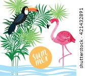 tropical vector illustration | Shutterstock .eps vector #421432891