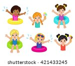 Children's Pool Party. Raster...