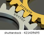 private sector concept on the...   Shutterstock . vector #421439695