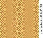 seamless gold art deco pattern...   Shutterstock .eps vector #421441531