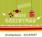 green background with hanging... | Shutterstock .eps vector #42145057