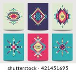 vector set of geometric... | Shutterstock .eps vector #421451695